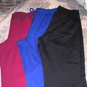 3 pair scrub pants